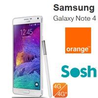 Le Samsung Galaxy Note 4 en pré-commande chez Orange et Sosh !