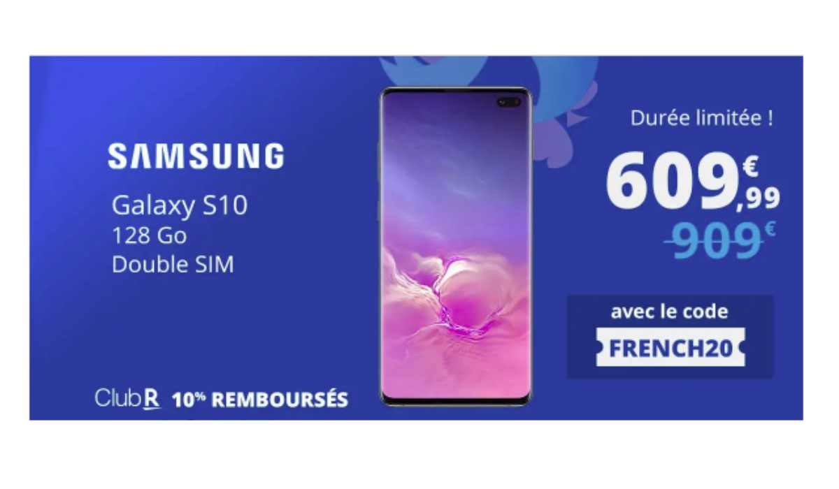 Top affaire : le Samsung Galaxy S10 à 609.99 euros chez Rakuten à l'occasion des French Days