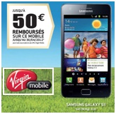 Le Samsung Galaxy S2 d�s 19.99� chez Virgin Mobile