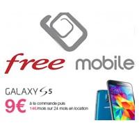 Samsung Galaxy S5 à 9€ à la commande avec un forfait Free Mobile