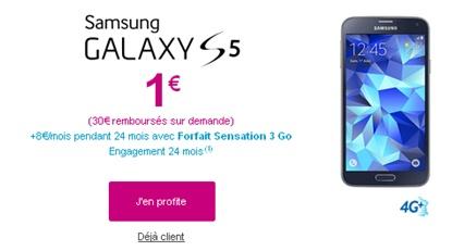 galaxy s5, bouygues telecom, vente flash, forfait sensation
