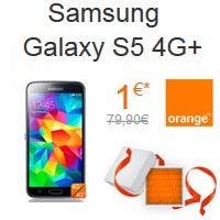 Bon plan de Noël : Le Samsung Galaxy S5 4G+ à 1€ chez Orange !
