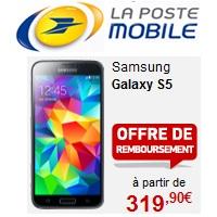 Le Samsung Galaxy S5 est disponible chez La Poste Mobile !