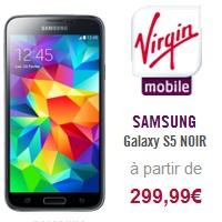 Le Samsung Galaxy S5 au meilleur prix chez Virgin Mobile !