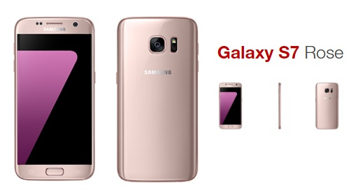 nouveaut free mobile le samsung galaxy s7 d barque en rose. Black Bedroom Furniture Sets. Home Design Ideas