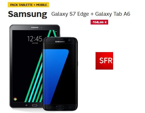 galaxy s7 edge galaxy tab a6 en vente flash avec un forfait sfr. Black Bedroom Furniture Sets. Home Design Ideas
