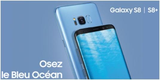 galaxy s8 : osez le bleu ocean