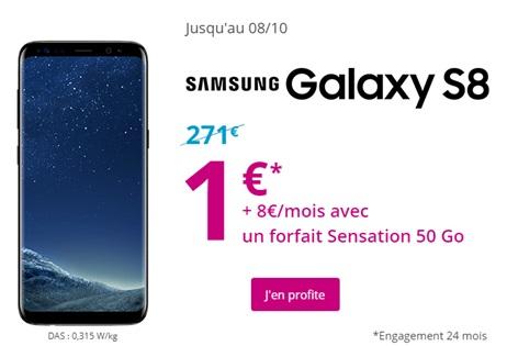 le Galaxy S8 à 1€ avec un forfait 50Go de Bouygues Telecom