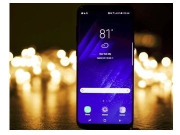 le Galaxy S8 vue de face