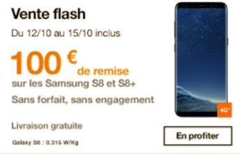 Le Samsung Galaxy S8 et S8 plus en vente flash chez Orange