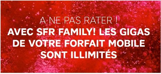 SFR FAMiLY internet sur mobile illimité