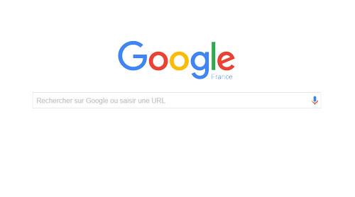 L'image de la barre de recherche Google