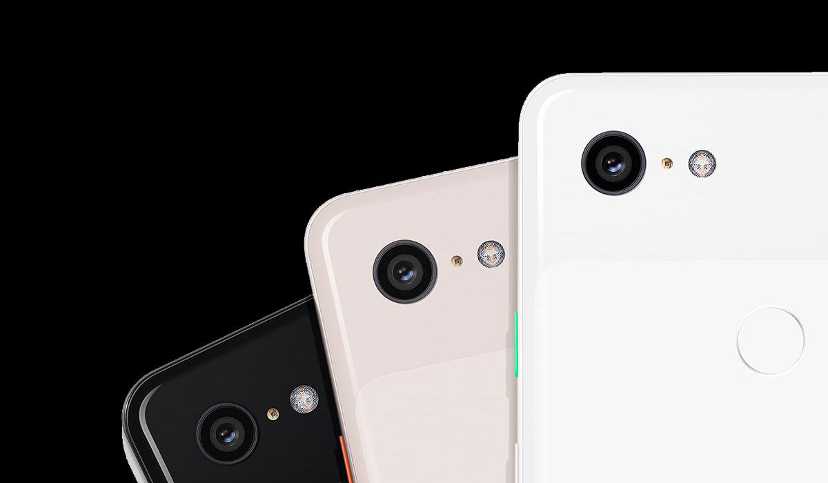 photo de dos des trois coloris du Google Pixel 3 XL