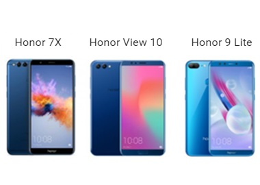 Honor view 10 et honor 7x