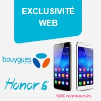 honor 6 huawei exclusivite web bouygues