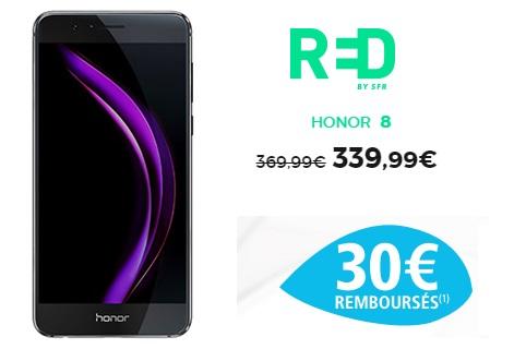 Le honor 8 en promo chez RED BY SFR