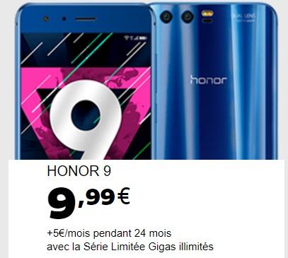 Nouveauté SFR ! Le Honor 9 débarque à partir de 9.99 euros 78ef96e789c7