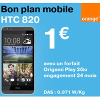 bon plan htc desire 820 chez orange exclu Web