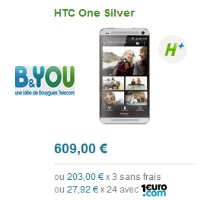 B&You HTC One Silver