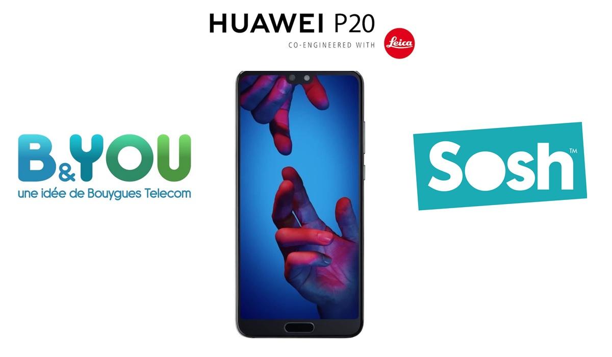 BON PLAN SOLDES : Le Huawei P20 à 299 euros avec un forfait Sosh ou B&You à 9,99 euros par mois