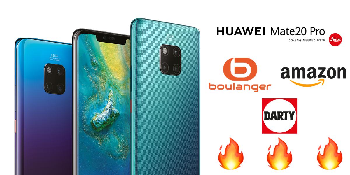 Le smartphone Huawei Mate 20 Pro en promotion chez de nombreux marchands