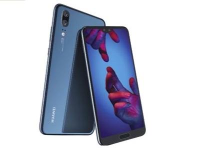 Le Huawei P20 vue de face et de dos