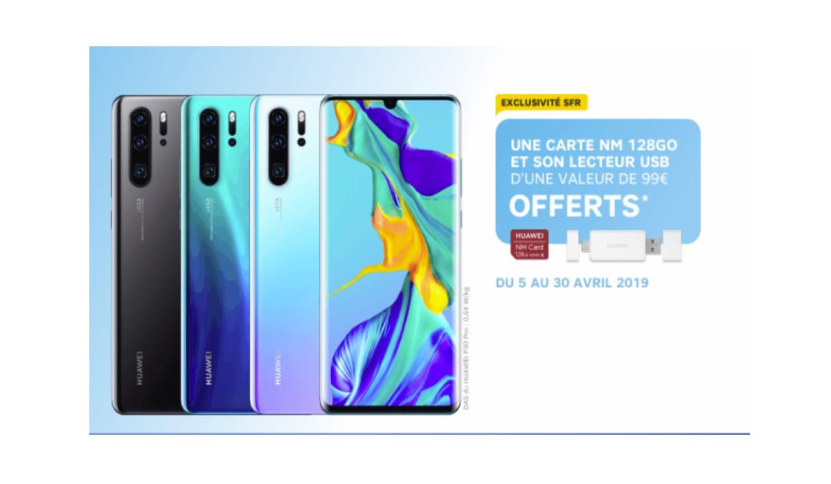 smartphone huawei p30 carte offerte SFR