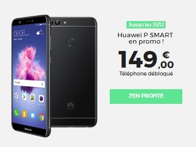 Bon plan RED by SFR : Le Huawei P Smart à 149 euros