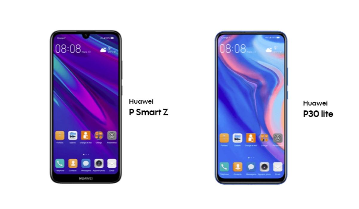 Bon plan : Deux Smartphones Huawei pas chers chez SOSH ou Orange (le P Smart Z ou P30 Lite)