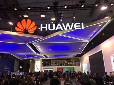 Le stand Huawei au mwc 2018