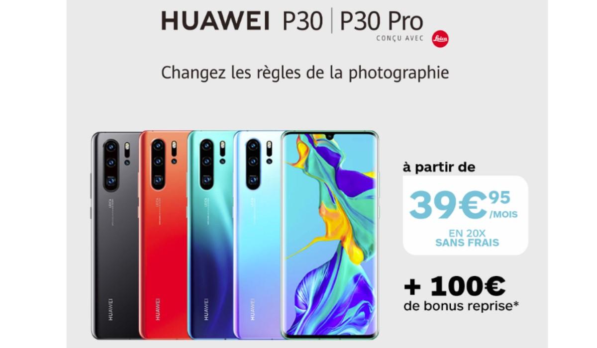 bon-plan-huawei-p30-et-p30-pro-bonus-reprise-de-100-euros-et-paiement-en-20-fois-sans-frais-chez-boulanger
