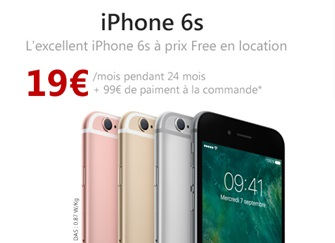 iPhone 6s 32Go à prix Free en location