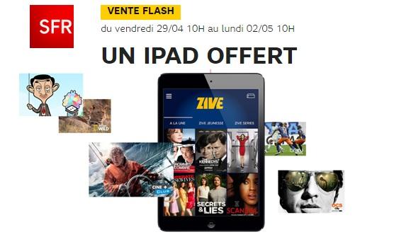 iPad moini offert avec sfr Box power
