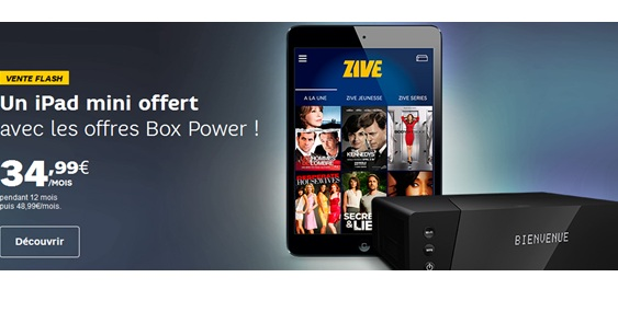ipad mini offert avec les box SFR power