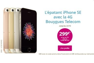 Bon plan : l'iPhone SE à 299 euros avec la série limitée B&You 30Go de Bouygues Telecom