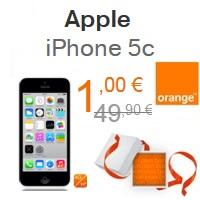 Bon plan de Noël : L'iPhone 5C 8Go à 1€ chez Orange !