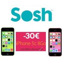 L'iPhone 5C en promo avec un forfait sans engagement chez Sosh jusqu'au 26 Mars !