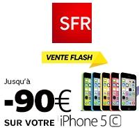 Dernières heures pour profiter de la vente flash sur l'iPhone 5C 8Go chez SFR !
