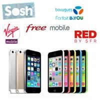 iPhone 5 et iPhone 6 : Comparez les prix chez Sosh, B&You, Free, Red de SFR et Virgin Mobile !