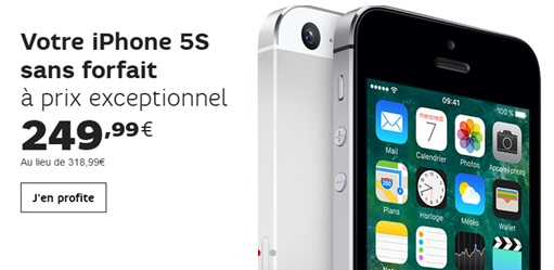 iPhone 5s vente flash sfr