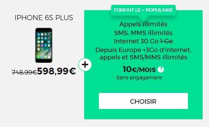 Bonne affaire : l'iPhone 6s Plus avec la série limitée RED 30Go à 10 euros