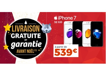 iPhone 7 et iPhone 8 à prix cadeau chez Cdiscount (livraison garantie avant Noël)