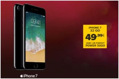 Bon plan de Noël : iPhone 7 à 49.99 euros chez SFR