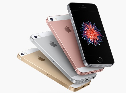iPhone SE et ses 4 couleurs