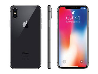 L'iPhone X de face, de dos et de côté