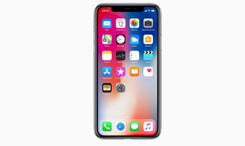 L'écran de l'iPhone X