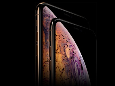 iPhone x vue de haut