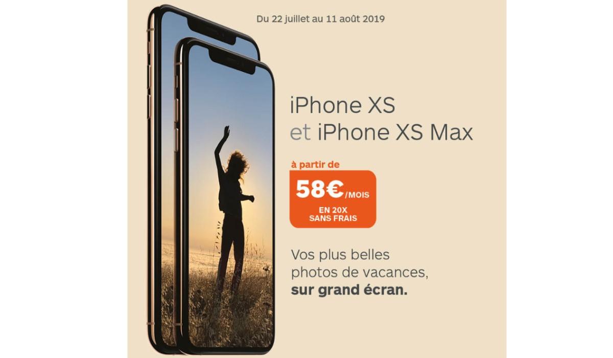 Les iPhones XS et XS Max éligibles au paiement en 20x sans frais chez Boulanger !