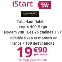 Bon plan internet très haut débit : l'offre iStart à 19.90€ chez Numericable!
