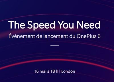 Le lancement du OnePlus 6 aura lieu le 16 mai à la Copper Box Arena de Londres